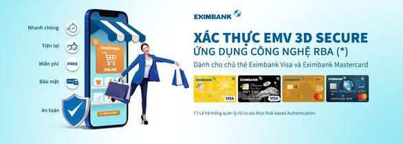 Eximbank triển khai hệ thống xác thực, bảo mật giao dịch trực tuyến mới nhất - Ảnh 1.