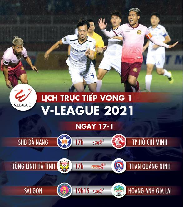Lịch trực tiếp vòng 1 V-League 17-1: Kiatisak ra mắt khi HAGL gặp Sài Gòn - Ảnh 1.