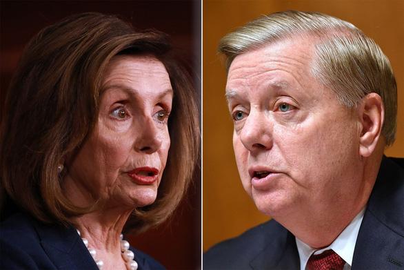 Bạo loạn điện Capitol: Thượng nghị sĩ Lindsey Graham đổ lỗi cho bà Pelosi - Ảnh 1.