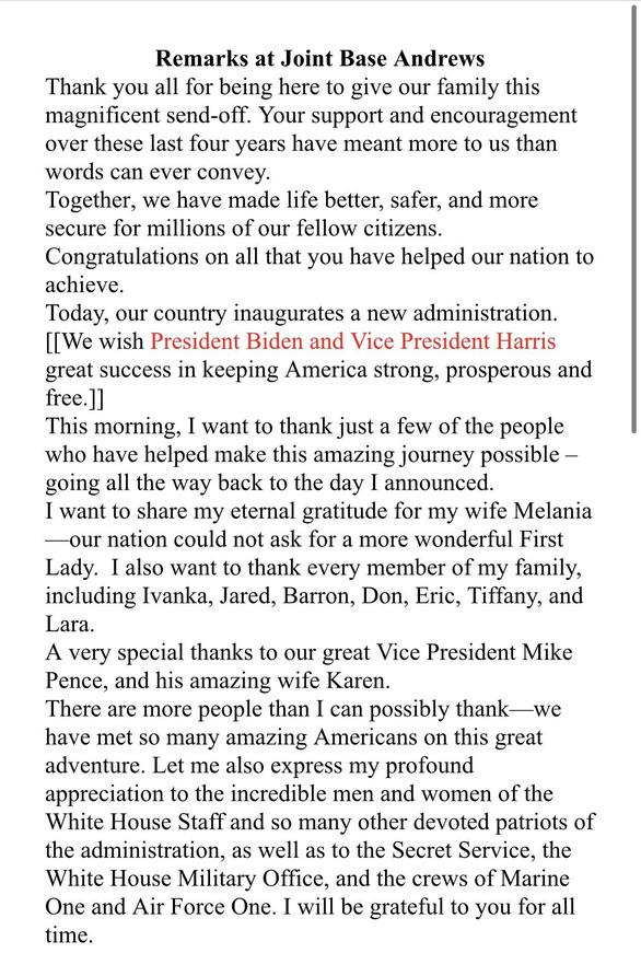 Bản thảo chúc mừng ghi tên ông Biden, ra phát biểu ông Trump lờ đi - Ảnh 2.