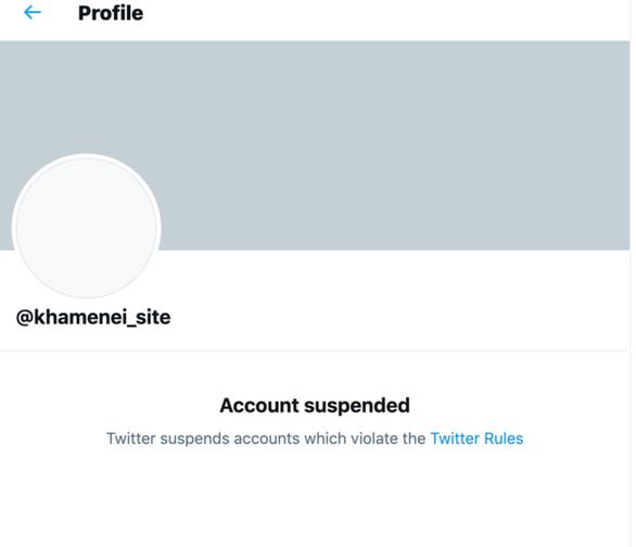 Twitter chặn tài khoản liên quan lãnh đạo tối cao Iran vì đe dọa ông Trump - Ảnh 2.