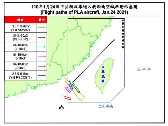 پاسخ تایوان: پرواز جنگنده های چینی در ADIZ تایوان ادامه دارد - عکس 1.