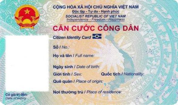Thẻ căn cước công dân gắn chip chính thức có hình dáng cụ thể ra sao? - Ảnh 1.