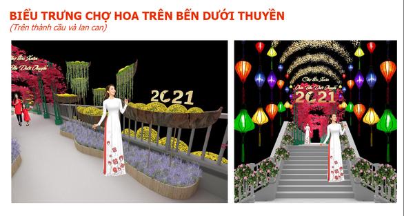 TP.HCM: Rực rỡ Chợ hoa xuân Trên bến dưới thuyền - Ảnh 2.