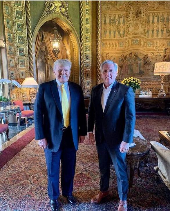 Ông Trump gặp lãnh đạo phe Cộng hoà tại Hạ viện McCarthy - Ảnh 2.