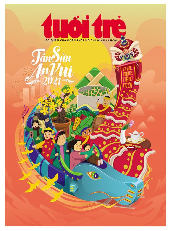 Bìa Tuổi Trẻ xuân - Tân Sửu an vui giành giải nhất của Hội Nhà báo TP.HCM - Ảnh 1.