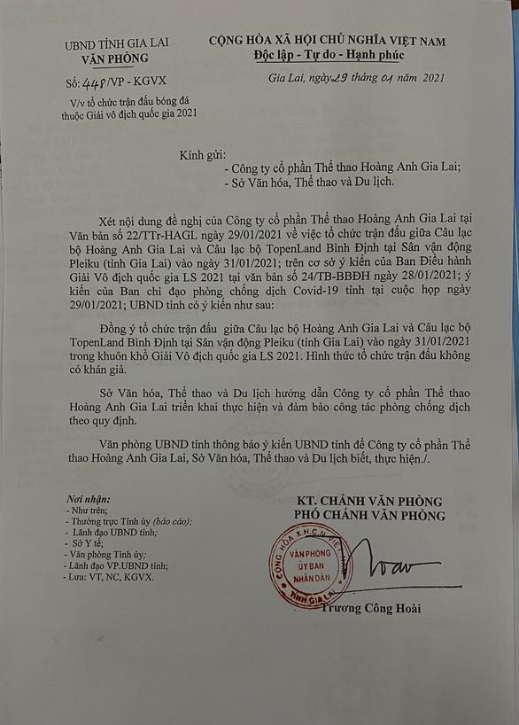 Không bán vé trận Hoàng Anh Gia Lai - Bình Định - Ảnh 1.