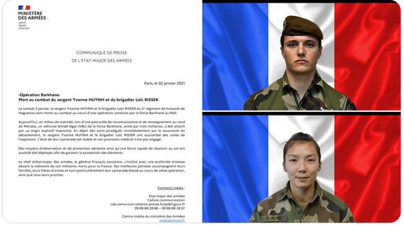 Nữ quân nhân Pháp đầu tiên hi sinh ở vùng chiến sự Mali là người gốc Việt? - Ảnh 1.