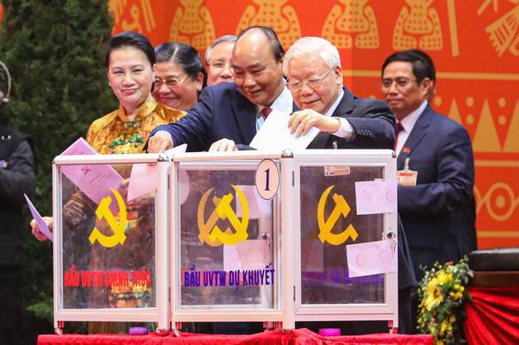 Đại hội Đảng XIII đã bỏ phiếu bầu Ban Chấp hành Trung ương - Ảnh 1.