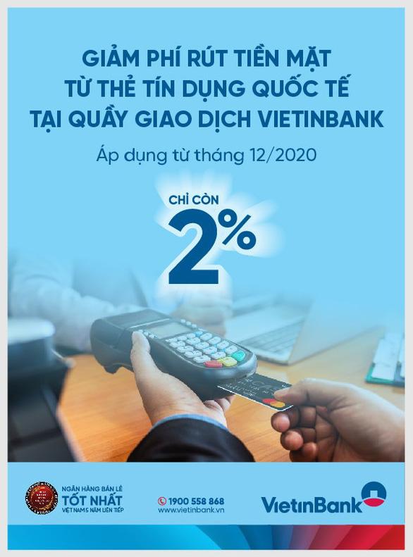 VietinBank ra thông báo về việc điều chỉnh phí rút tiền từ thẻ tín dụng quốc tế - Ảnh 1.