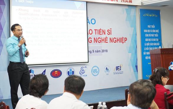 ĐH Quốc gia TP.HCM thí điểm đào tạo tiến sĩ định hướng ứng dụng - Ảnh 1.