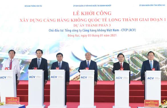 Thủ tướng bấm nút khởi công xây dựng sân bay Long Thành - Ảnh 1.