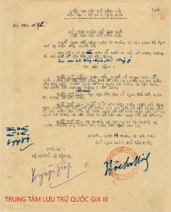 5 sắc lệnh về cuộc Tổng tuyển cử đầu tiên của nước ta - Ảnh 3.