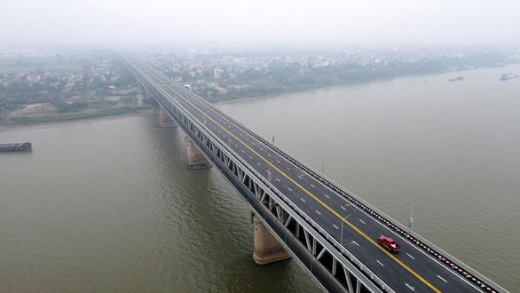 Cầu Thăng Long thông xe sau hơn 4 tháng sửa chữa - Ảnh 2.