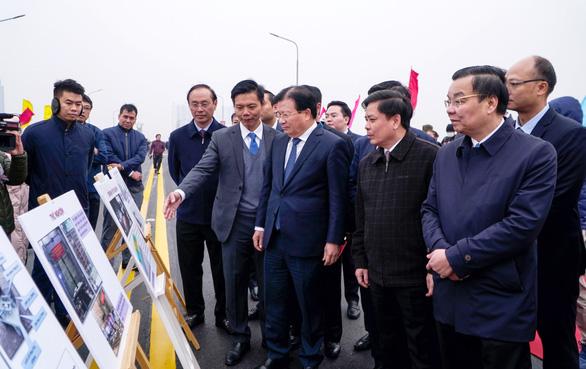 Cầu Thăng Long thông xe sau hơn 4 tháng sửa chữa - Ảnh 3.