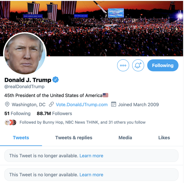 Ông Trump đăng gì trên Twitter mà bị khóa tài khoản? - Ảnh 1.
