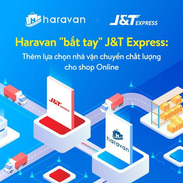 J&T Express bắt tay Haravan tích hợp nhiều tiện ích cho người kinh doanh online - Ảnh 1.