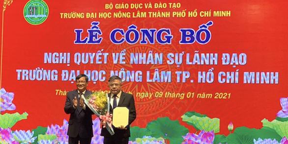 PGS.TS Huỳnh Thanh Hùng làm quyền hiệu trưởng ĐH Nông lâm TP.HCM - Ảnh 1.