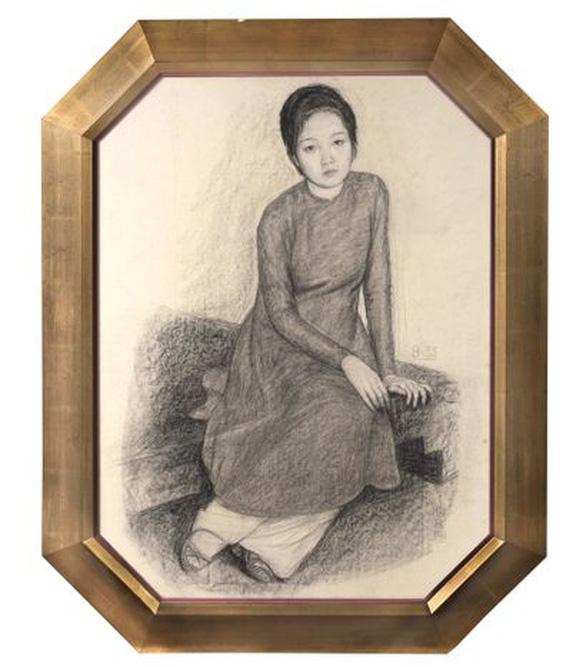 Tranh hiếm của nhà văn Nhất Linh được đấu giá thành công trên sàn quốc tế - Ảnh 3.