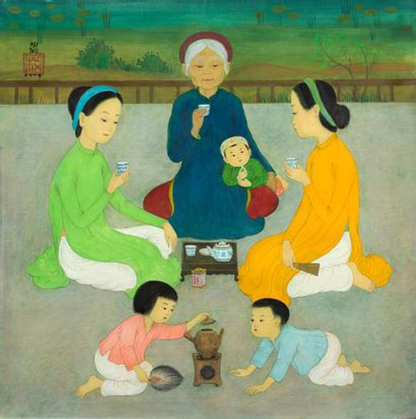Tranh hiếm của nhà văn Nhất Linh được đấu giá thành công trên sàn quốc tế - Ảnh 2.