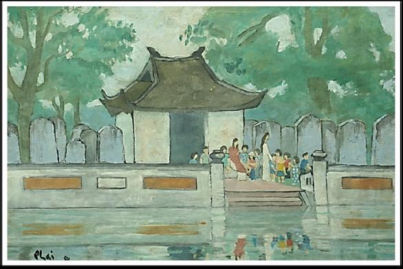 Ngắm Hà Nội đẹp tươi ngày giải phóng thủ đô trong tranh của nhiều danh họa - Ảnh 4.