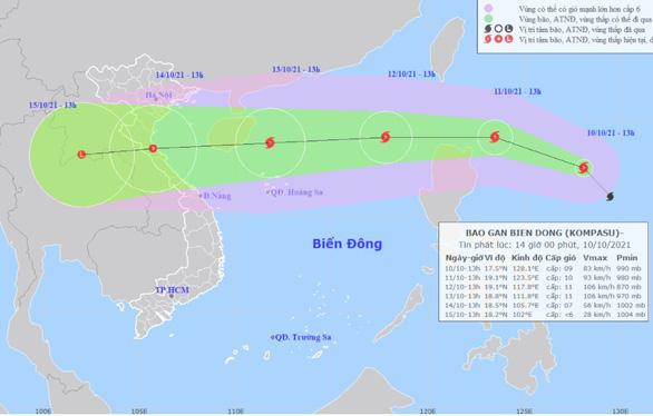 Bão số 8 đã vào biển phía Bắc Việt Nam gió giật cấp 11, sẽ suy yếu thành áp thấp nhiệt đới  - Ảnh 1.