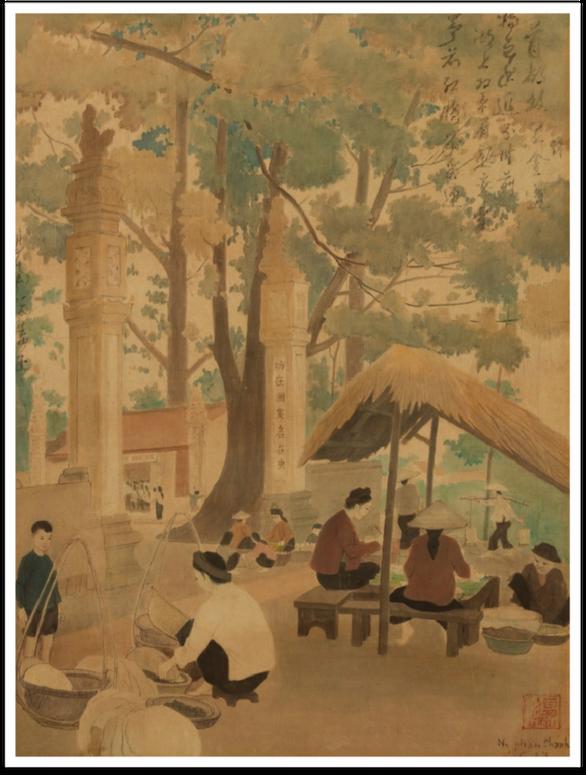Ngắm Hà Nội đẹp tươi ngày giải phóng thủ đô trong tranh của nhiều danh họa - Ảnh 5.