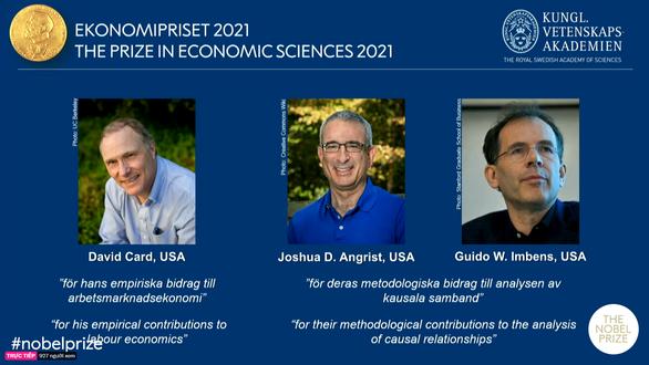 Nobel Kinh tế được trao cho 3 người Mỹ - Ảnh 1.