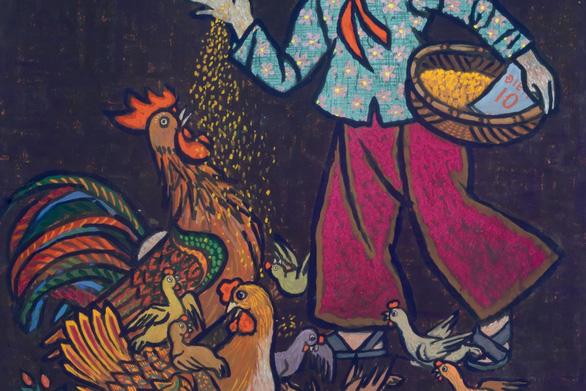 Ngắm những thân thương nghề nông trong tranh của họa sĩ nổi tiếng - Ảnh 3.