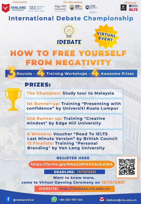 Sân chơi hùng biện quốc tế mới cho học sinh sinh viên: International Debate Championship 2021 - Ảnh 3.