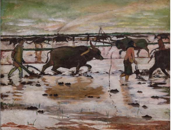 Ngắm những thân thương nghề nông trong tranh của họa sĩ nổi tiếng - Ảnh 1.