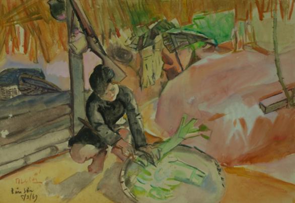 Ngắm những thân thương nghề nông trong tranh của họa sĩ nổi tiếng - Ảnh 2.