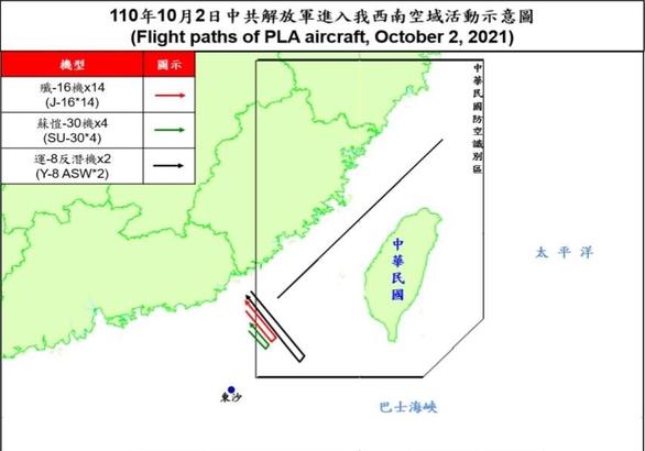 Trung Quốc tiếp tục đưa hàng chục máy bay áp sát Đài Loan - Ảnh 2.