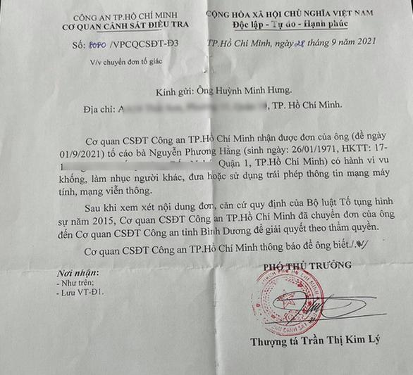 Công an TP.HCM chuyển đơn của Đàm Vĩnh Hưng tới Công an Bình Dương - Ảnh 1.