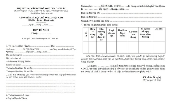 Sẽ có app để người dân đăng ký từ TP.HCM về tỉnh đón con, người thân - Ảnh 1.