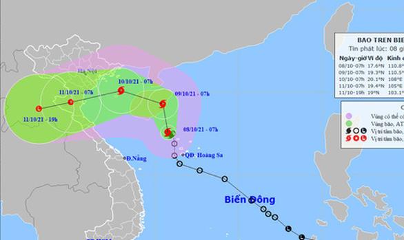 Quỹ đạo và cường độ bão số 7 phức tạp, Bắc Bộ, Trung Bộ mưa rất lớn - Ảnh 1.