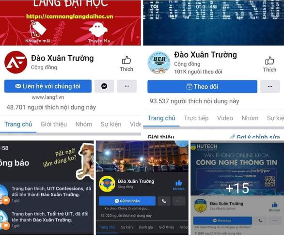 Hàng chục fanpage confession trường đại học bị hacker đổi tên thành Đào Xuân Trường - Ảnh 1.