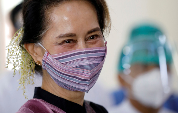 Bà Suu Kyi để lại tuyên bố trước khi bị bắt, kêu gọi người dân phản đối đảo chính - Ảnh 1.