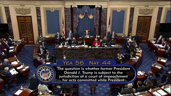 Thượng viện Mỹ: luận tội ông Trump là hợp hiến - Ảnh 1.