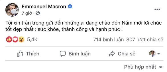 Lời chúc Tết bằng tiếng Việt của Tổng thống Pháp Macron nhận 'bão like' - Ảnh 2.