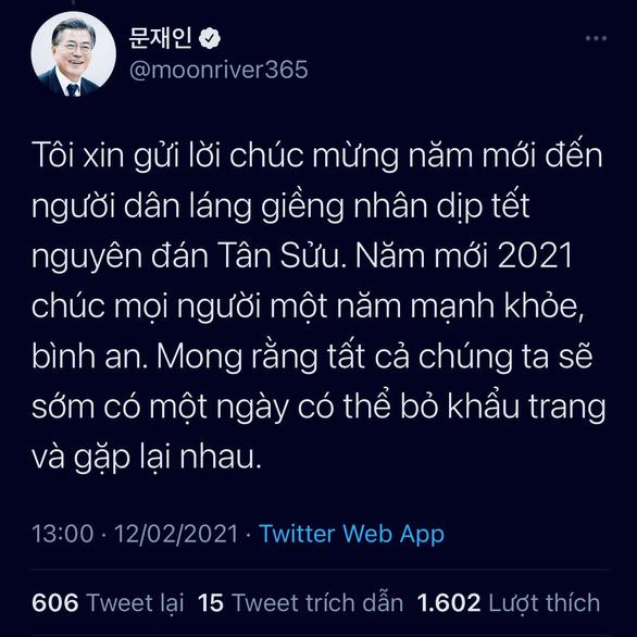 Tổng thống Hàn Quốc chúc Tết bằng tiếng Việt, mong sớm có ngày được bỏ khẩu trang - Ảnh 1.