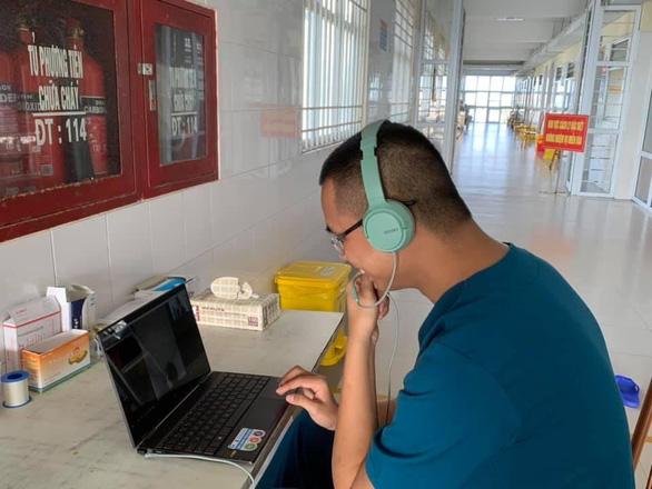 Valentine đặc biệt của y bác sĩ bệnh viện điều trị bệnh nhân COVID-19 tại Quảng Ninh - Ảnh 4.