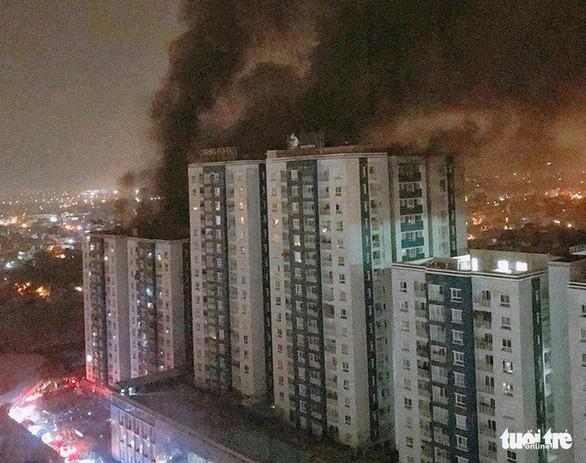 Phục hồi điều tra vụ cháy chung cư Carina - Ảnh 1.
