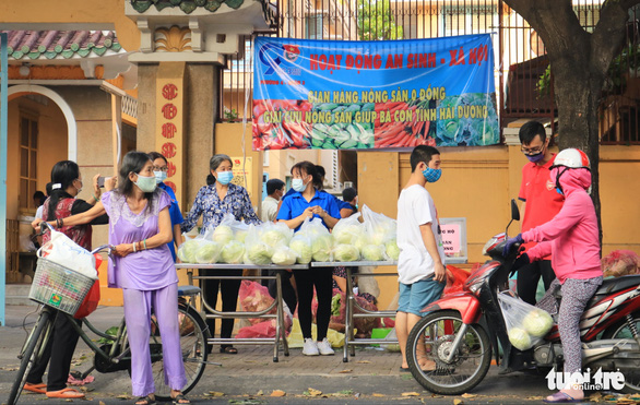 Người trẻ Sài Gòn thuê xe ra tận Hải Dương mua bắp cải về bán giá... 0 đồng - Ảnh 1.