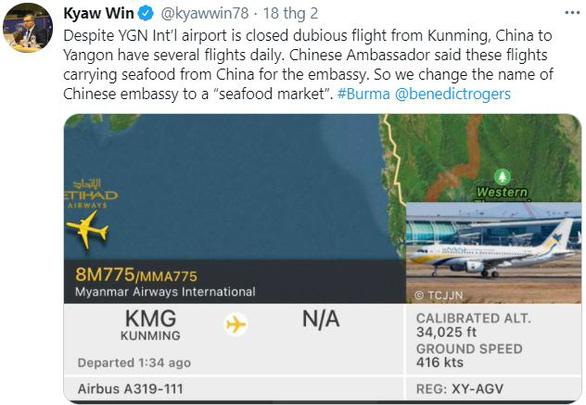 Trung Quốc và Myanmar ấp úng về 5 chuyến bay bí ẩn mỗi đêm - Ảnh 2.