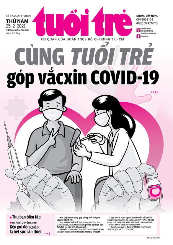 Tuổi Trẻ phát động chương trình Cùng Tuổi Trẻ góp vắcxin COVID-19 - Ảnh 1.