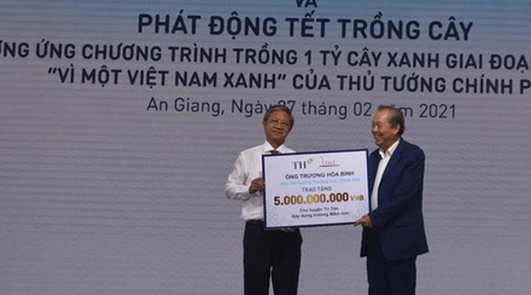 Phó thủ tướng Trương Hòa Bình dự lễ khởi công dự án chăn nuôi 10.000 con bò sữa công nghệ cao - Ảnh 1.