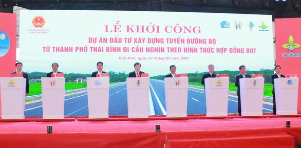 Thái Bình hợp long cầu Trà Lý II và khởi công đường TP Thái Bình - Cầu Nghìn - Ảnh 2.