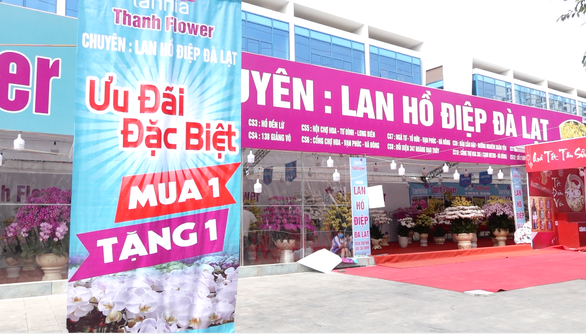 24 tết, người bán hoa tại Hà Nội xả hàng, giảm giá, chỉ mong huề vốn - Ảnh 2.
