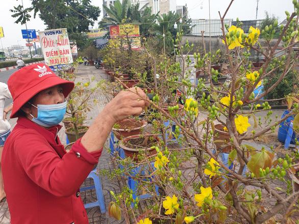 Sức mua chậm còn gặp mưa, người bán hoa trái ở Sài Gòn lo sốt vó - Ảnh 1.